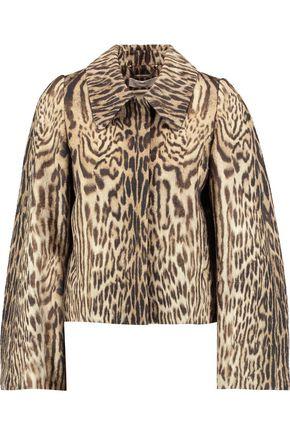 CHLOÉ Leopard-print jacquard jacket