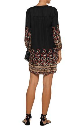 JOIE Nayell printed silk mini dress