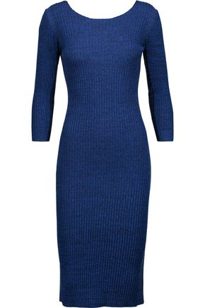 MAJE Pidette marled rib-knit dress