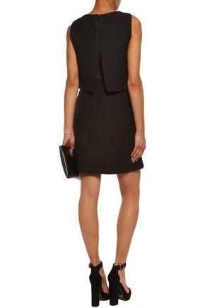 MAJE Layered jacquard mini dress
