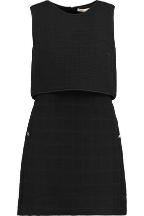 MAJE Layered jacquard mini dress