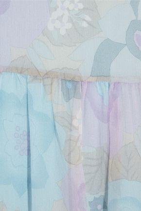 REDValentino Floral-print silk-chiffon mini dress