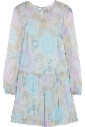 REDValentino Floral-print silk-chiffon mini dress