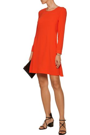 MAJE Rival pleated crepe mini dress