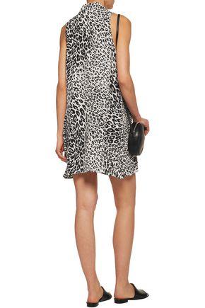 EQUIPMENT FEMME Mina leopard-print washed-silk mini dress