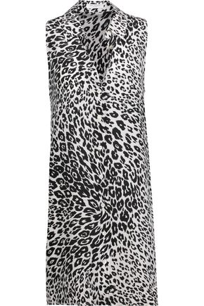 EQUIPMENT Mina leopard-print washed-silk mini dress