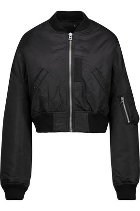 R13 Flight cropped shell down bomber jacket