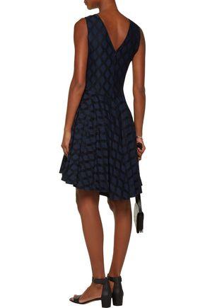 SANDRO Regina tulle-trimmed crepe dress