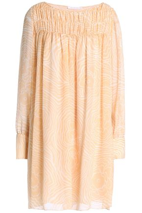 SEE BY CHLOÉ Belted printed silk-georgette dress
