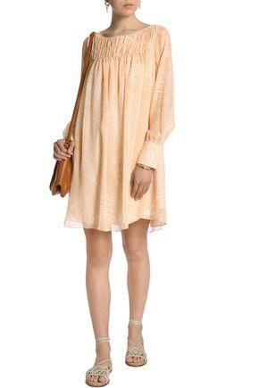 SEE BY CHLOÉ Belted printed silk-georgette dress