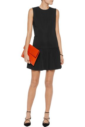 RAOUL Delaney peplum crepe mini dress