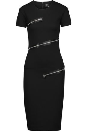 McQ Alexander McQueen Embellished stretch-jersey dress