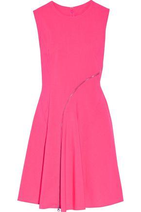 McQ Alexander McQueen Zip-embellished broadcloth mini dress