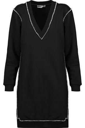 McQ Alexander McQueen Crystal-embellished cotton mini dress