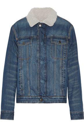 CURRENT/ELLIOTT The Zip Hendric faux shearling-lined denim jacket