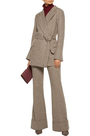 CO Belted wool-tweed jacket