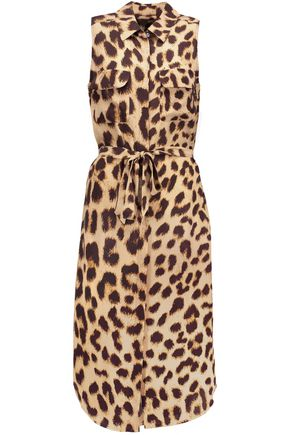 EQUIPMENT Tegan leopard-print washed-silk dress