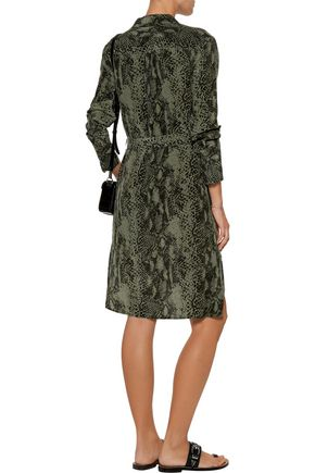 EQUIPMENT Delany snake-print washed-silk mini dress