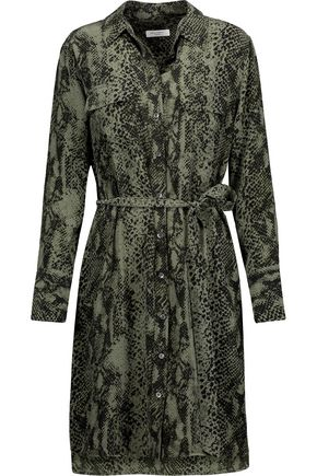 EQUIPMENT Delany snake-print washed-silk mini dress