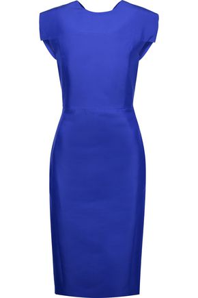 ANTONIO BERARDI Cotton and silk-blend satin midi dress