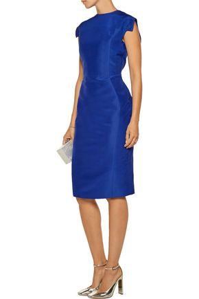 ANTONIO BERARDI Cotton and silk-blend satin midi dress