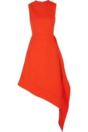ANTONIO BERARDI Asymmetric layered stretch-crepe dress