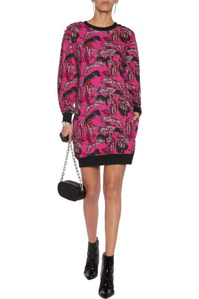JUST CAVALLI Printed cotton-blend mini dress