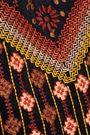 M.I.H JEANS Ezra embroidered velvet mini dress