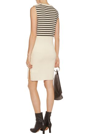 MM6 MAISON MARGIELA Striped ribbed wool dress