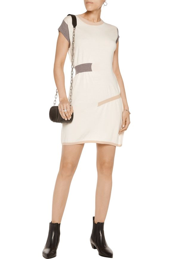Ruched wool mini dress   MM6 by MAISON MARGIELA   Sale up to 70% off   THE  OUTNET
