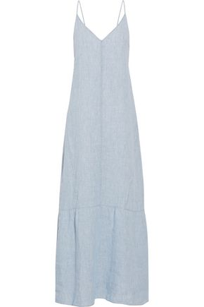 J BRAND Maureen linen-chambray maxi dress