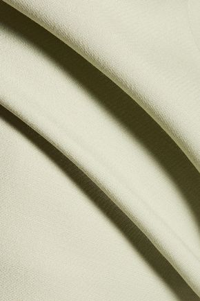 VALENTINO Flared wool and silk-blend dress
