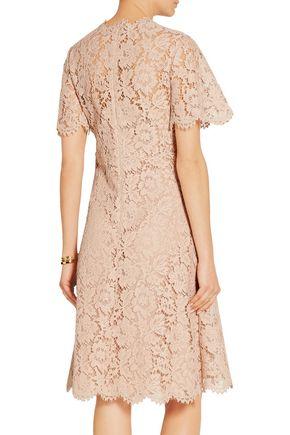 VALENTINO Abito cotton-blend lace dress