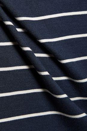 SPLENDID Envelope cold-shoulder striped stretch-modal midi dress