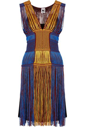 M MISSONI Fringed crochet-knit dress