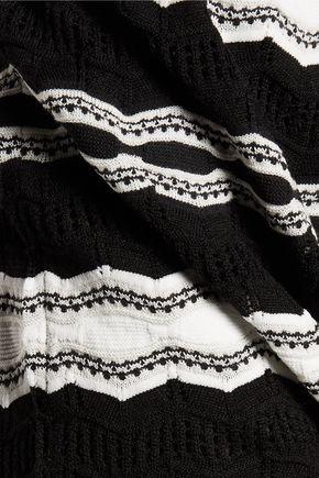 M MISSONI Open knit-trimmed intarsia-knit dress
