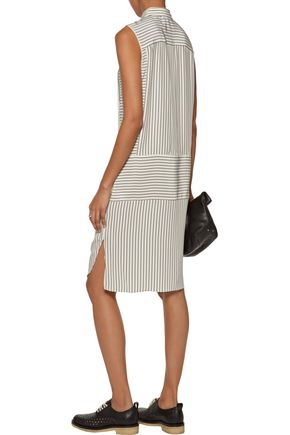 RAG & BONE Virginia striped washed-silk mini dress