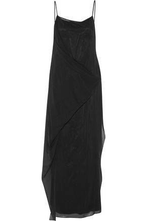 RAG & BONE Irina draped stretch-silk maxi dress