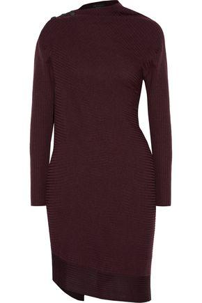 RAG & BONE Reanna asymmetric ribbed merino wool sweater dress