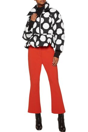 MSGM Polka-dot quilted shell jacket