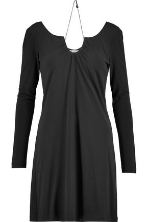 T by ALEXANDER WANG Gathered stretch-jersey mini dress