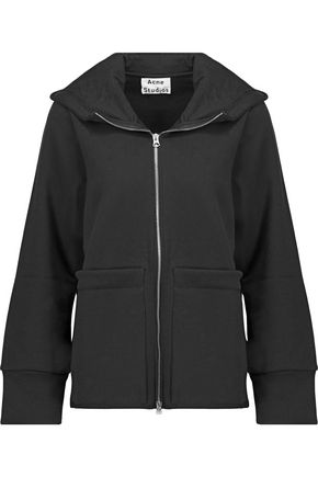 ACNE STUDIOS Adima cotton-blend jersey hooded sweatshirt