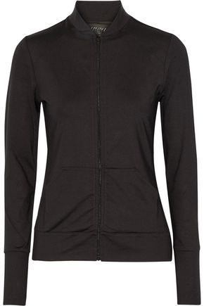 NORMA KAMALI Mesh-paneled stretch-jersey jacket