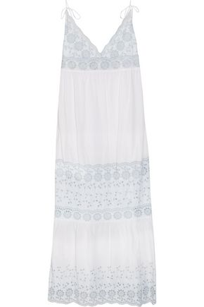SEE BY CHLOÉ Broderie anglaise cotton maxi dress