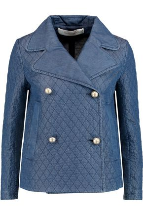 SEE BY CHLOÉ Embroidered chambray jacket