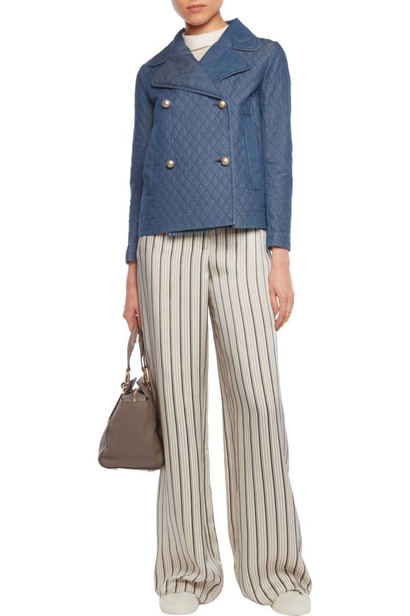 Embroidered chambray jacket | SEE BY CHLOÉ | Sale up to 70% off | THE OUTNET