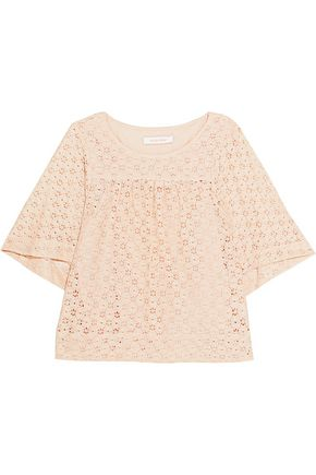 SEE BY CHLOÉ Broderie anglaise cotton top