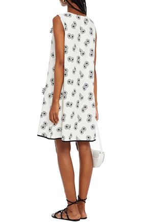 SEE BY CHLOÉ Appliquéd floral-print cotton dress