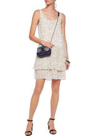 SEE BY CHLOÉ Layered printed chiffon mini dress