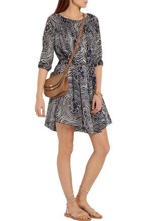 SEE BY CHLOÉ Printed silk-georgette mini dress